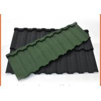 Cheap 1340x420mm Galvalume Steel Sheet Material Stone Coated Steel Roofing Eco Friendly for sale