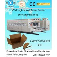 Buy cheap High Speed Corrugated Sheet Flex Die Cut Sticker Printing Machine of Slotting Unit from wholesalers