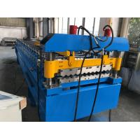 Cheap 380V 50Hz 3 Phases Roof Panel Roll Forming Equipment Manual Decoiler 20GP Container for sale