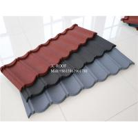 Cheap Color Stone Coated Steel Roofing Sheet , Terracotta Color Stone Coated Metal Roof Tile for sale