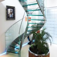 ... Quality Prefabricated Stainless Steel Glass Stairs Curved Stair  Manufacturers With Wholesale ...