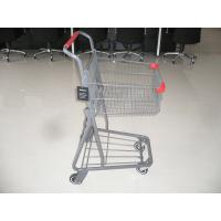 Q195 Low carbon steel single basket Shopping cart with metal base in color powder finish