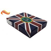 Buy cheap UK Flag Top and Base Handmade Wallet Apparel Gift Boxes , Customized 1200g Rigid Board Packaging Boxes from wholesalers