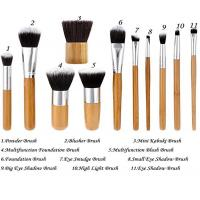 Cheap 11 Pieces Bamboo Makeup Brushes With Handle , Ecotools Foundation Brush for sale
