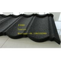 Cheap Stone Coated Metal Roof Tile size 1300*420mm Thickness 0.45mm Roman Tile JC109 Green Black for sale