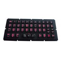 Cheap Industrial red backlit illuminated ruggedized keyboard with 83 key dustproof for sale