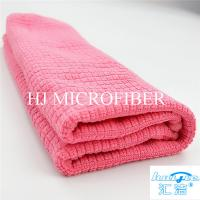 "Microfiber Cleaning Cloth Towel Weft Knitted Cloth For Kitchen Red Color 16"" Washing Tools"