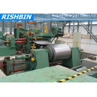 Cheap Carbon Steel , Color Steel Simple Slitting Cutting Machine Line with 60 m / min for sale