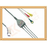 Cheap Gray SW Artema ECG Patient Cable 3 Leads Snap IEC durability for sale
