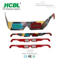 Cheap Custom Paper Anaglyph 3D Glasses With Full Color Logo For 3D Theater for sale