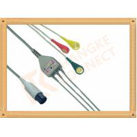 Cheap Generic AAMI 6 Pin ECG Patient Cable 3 Leads Snap IEC For Abbott Medical for sale