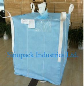1000kg Anti static Industrial Bulk Bags CROHMIQ blue / white for storage chemical powder