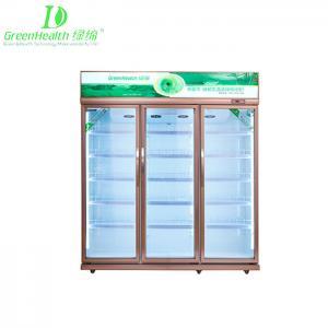 Buy cheap Green&health supermarket double door three door used upright Pepsi beer bottle display fridge from wholesalers