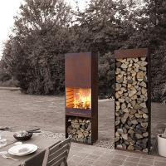 Cheap Yard / Garden Cast Iron Fire Pot , Corten Steel Fire Pit Wood Burning Fireplace for sale