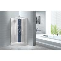 Cheap Popular White ABS Tray Corner Shower Stalls , Circle Quadrant Shower Cabin for sale