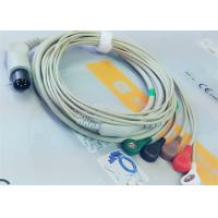Cheap M&B 6 Pin Snap AHA ECG Patient Cable For Medical Equipment , Electrode Lead Wires for sale