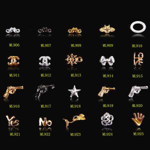 Fashion Gold&Silver Gun Metal 3D alloy nail art charms 3D nail jewelry ML906-926