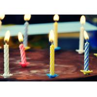 Cheap 4 Colors 24Pcs Swirl Birthday Candles With Holders For Children Party Food Grade for sale