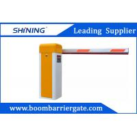Cheap Yellow Intelligent Entrance Electronic Boom Barrier / Arm Barrier Gate for sale