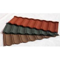Cheap Wood Shingle Materials Stone Coated Metal Roof Tiles , Galvanized Stone Coated Tile for sale