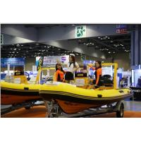 17ft orca hypalon inflatable rib boat  rib520A with sunbed center console rear cabin CE certificate