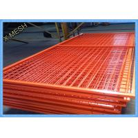 Cheap Orange Wire Mesh Fence Panels , Framed Welded Wire Fabric Corrosion Resistant for sale