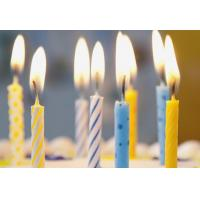Quality Simple Spiral Striped Birthday Candles With Colorful Dots No Harmful Tearless wholesale