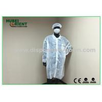 OEM Breathable Disposable Lab Coats with Hook / Loop Closure