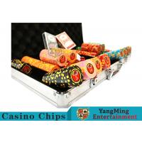 Cheap 10,000Pcs 11.5g Clay Poker Chip Sets With Aluminum Case For Gambling Games for sale