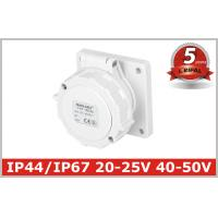 Buy cheap IP67 Low Voltage Industrial Power Socket with 2 Pole , 5 Years Warranty from wholesalers