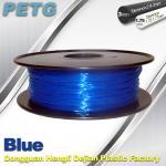 Cheap 3D Printer Transparent Material 1.75 / 3.0 mm PETG Fliament Blue Plastic Spool for sale