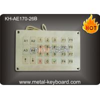 Vandal resistant SS Industrial Entry Keypad , weatherproof keypad with 26 Keys