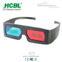 Cheap Promotional Adult Anaglyph 3D Red Blue Glasses For 3D Movies / 3D Pictures for sale