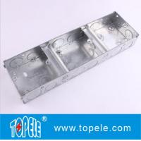 25mm,35mm Steel BS4568 GI Box / Terminal One Gang GI Box, Electrical Boxes And Covers