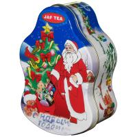 Santa Claus Metal Tin Container For Christmas Holidays , Custom Box