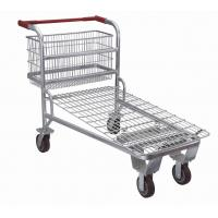 Cheap Supermarket Shopping Trolley ,Retail Logistics Trolley With Zinc Plated Surface for sale