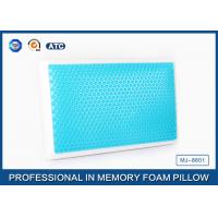 Cheap Standard size memory foam cooling gel pillow with different gel layer for sale