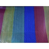 Cheap pure virgin tarpaulin with color strip for sale