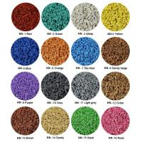 Sulphur Cured EPDM Rubber Granules , Customized Athletic Tracks Coloured Rubber Crumb