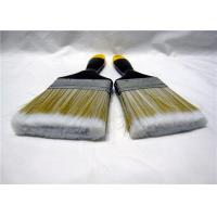 Nylon Flat Paint Brush With Lacquered Wooden Handle / Iron Ferrule