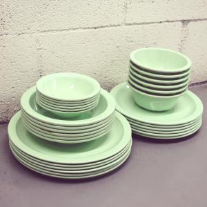 Cheap 20pcs melamine tableware set melamine dinner set for sale