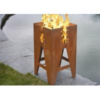 Cheap Durable Outdoor Corten Steel Fire Pit Barbecue Customized Size Available for sale