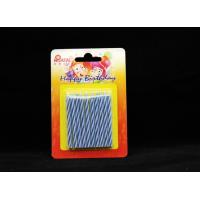 Novelty Disposable Magic Relighting Birthday Candles Blue And White Striped