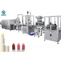 Full Automatic Lip Balm Filling Machine With Chilling Tunnel , 14kw Power
