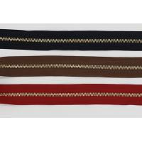 Raw Brass  Continuous Upholstery Zips Roll , 3# 4# 5# Upholstery Zippers By The Yard