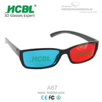 Quality Folding Binoculars Magenta Green Anaglyph 3D Glasses Compatible with Nvidia 3d Vision for sale