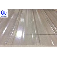 Quality Transparent Corrugated Clear Polycarbonate Roofing Sheets Wave Or Trapezoidal Type wholesale