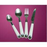 Cheap Stainless steel flatware with plastic handle for sale