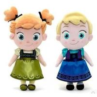 Cheap Small Girls Disney Plush Toys Elsa And Anna Frozen Baby Dolls 30cm for sale