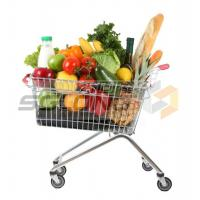 Cheap Unfolding Colored Supermarket Shopping Trolley Baskets for sale